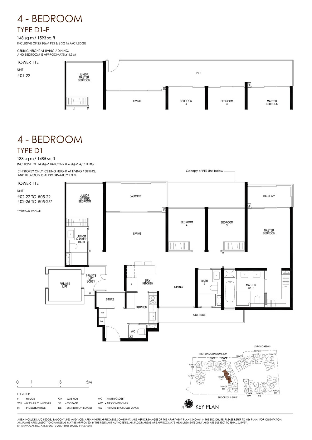 Daintree Residence 4BR (Private Lift) Floor Plan
