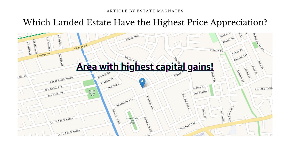 Which Landed Estate Have the Highest Price Appreciation