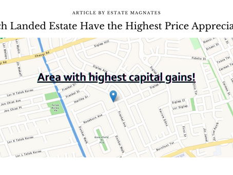 Which Landed Estate Have the Highest Price Appreciation?