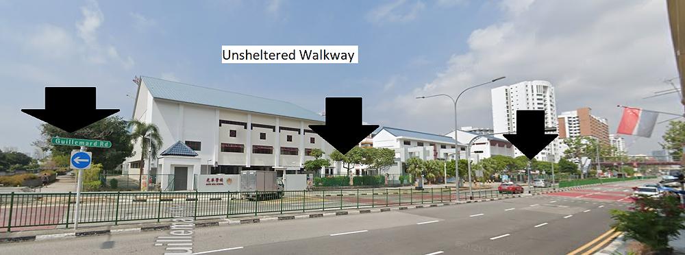 Unsheltered Walkway