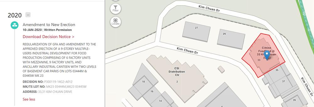 Citrine Foodland @ 33 Kim Chuan