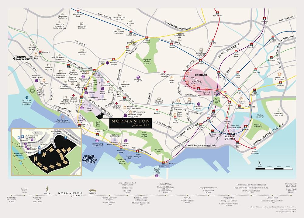 Normanton Park Location Plan