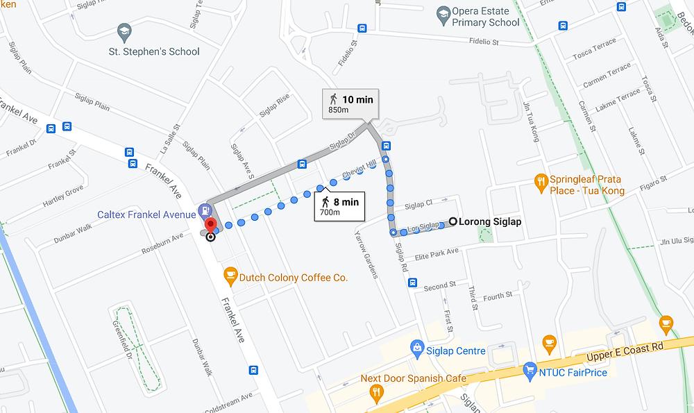 Distance to Frankel Avenue