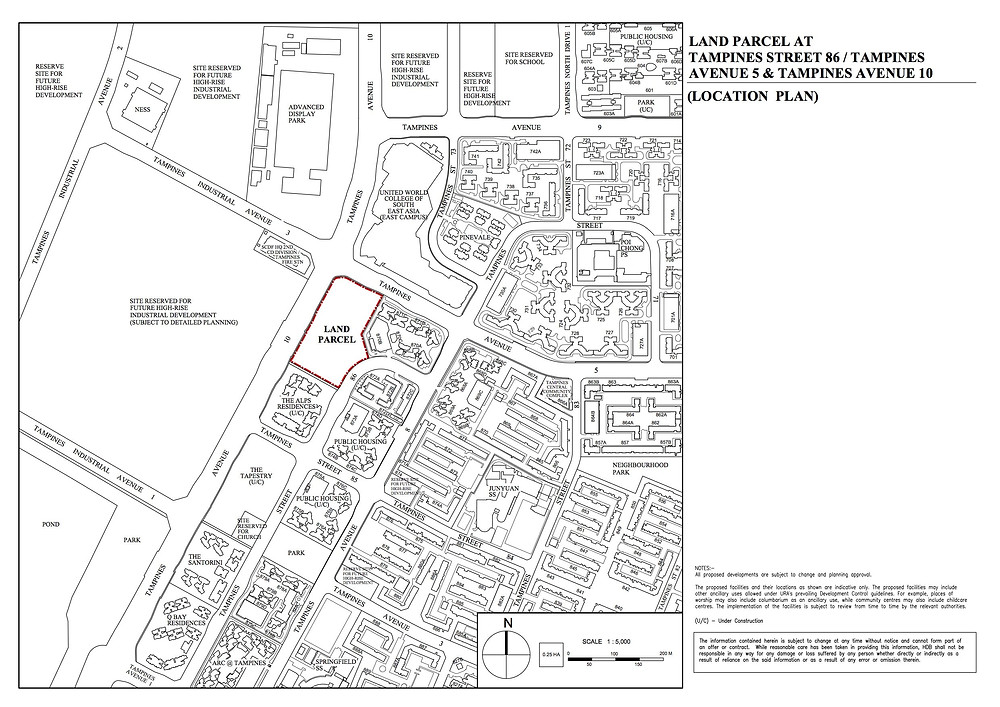 Tampines Avenue 10 Location Plan