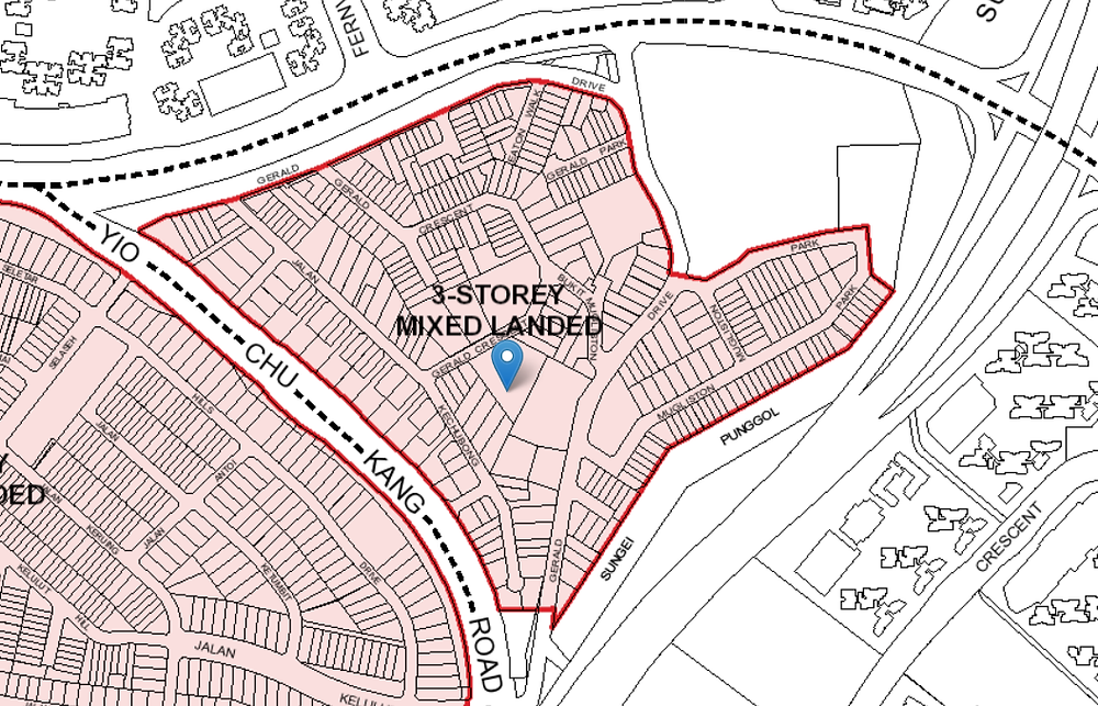 2F Gerald Crescent Control Plan, Landed Housing Area