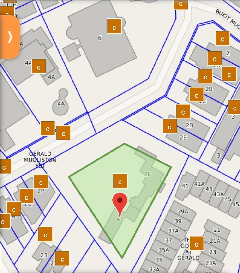 2F Gerald Crescent Approximate site coverage