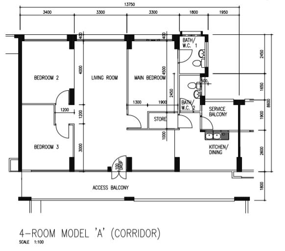 Simei 4A Floor Plan