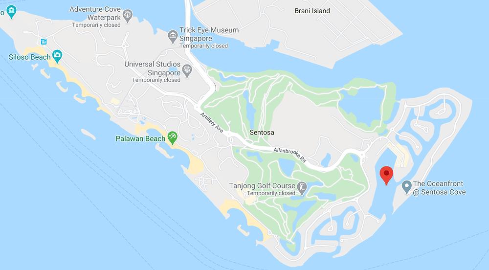 Sentosa Google Maps
