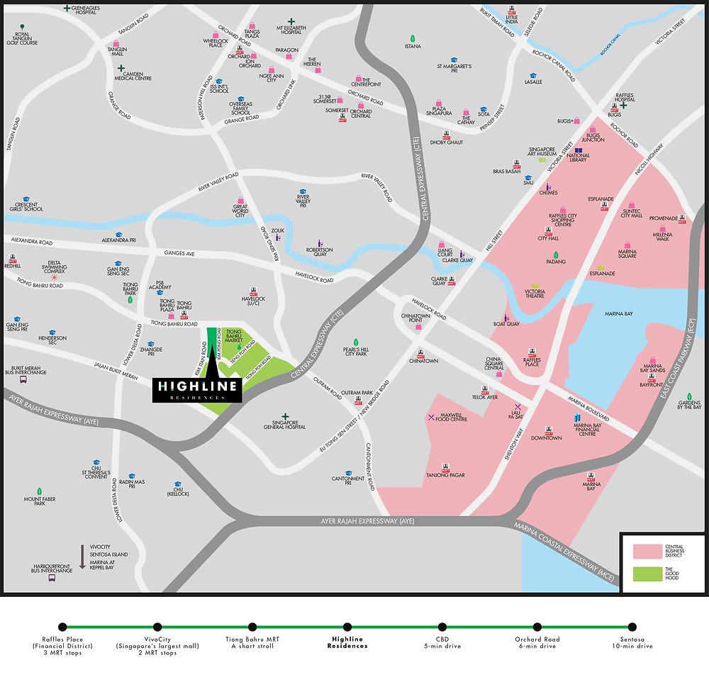 Highline Residences Location Map