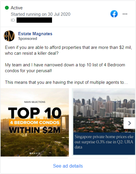 FB Ad for Top 10 4BR