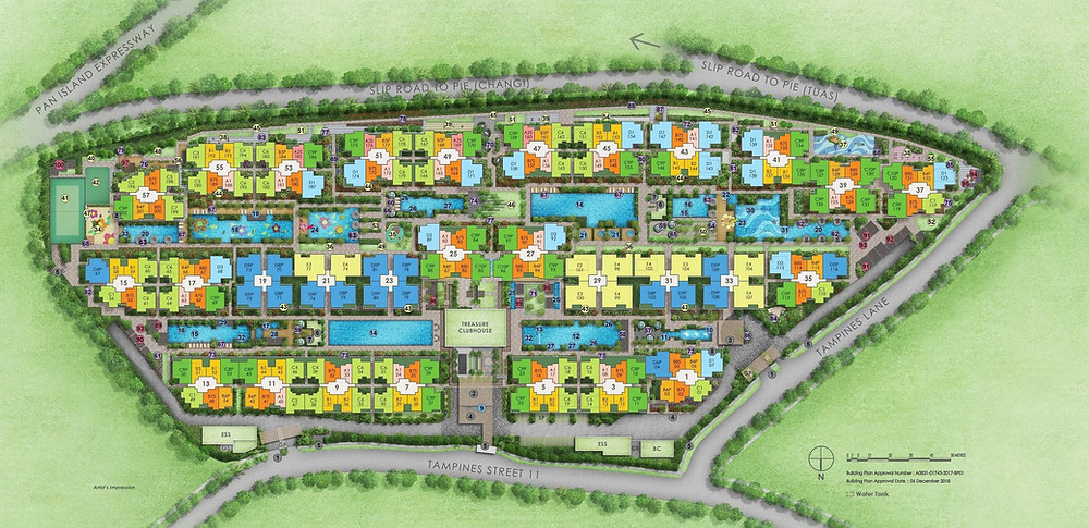 Treasure @ Tampines Site Plan