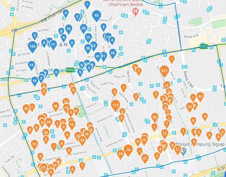Overlay of Condo Sites Kembangan and Frankel