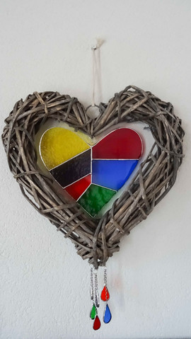 Rainbow Cane Heart