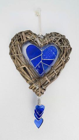 Blue Cane Heart