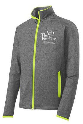 The First Tee Full Zip Contrast (Men Only)