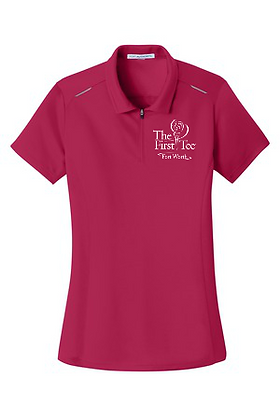 The First Tee Women Pinpoint Zip Polo