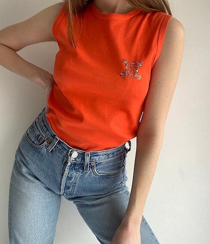 Top orange Céline
