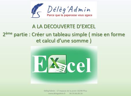 Excel: comment créer un tableau ?