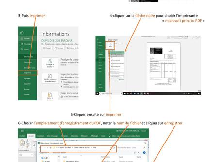 Comment transformer un document Excel en PDF?