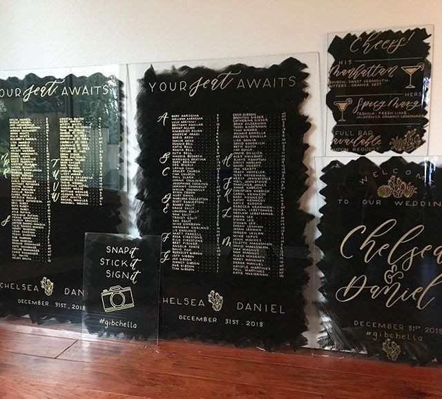 Letters & Dust | Painted Acrylic Signs | Custom Wedding Signs | portland Oregon
