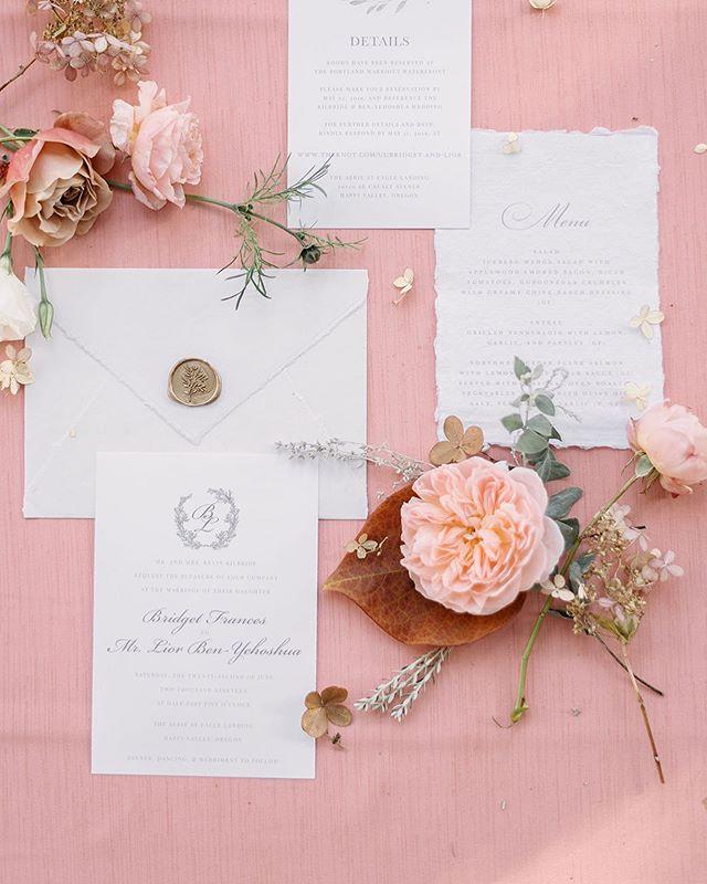 Soft romantic garden wedding invitation