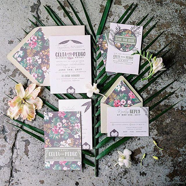 Havana Wedding Invitation set _ Letters