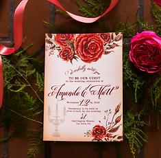 Letters And Dust Beauty The Beast Portland Oregon Wedding Invitations 521
