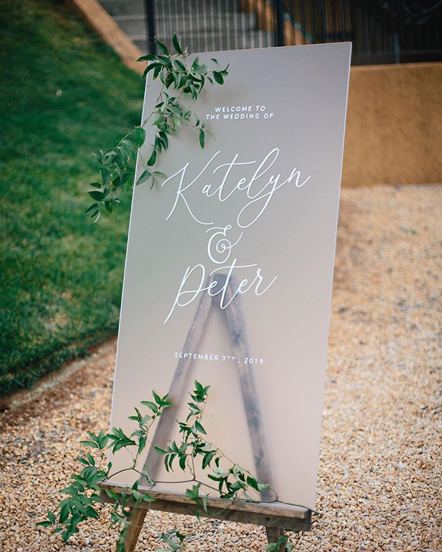 Letters & Dust | ACrylic wedding signs | portland Oregon