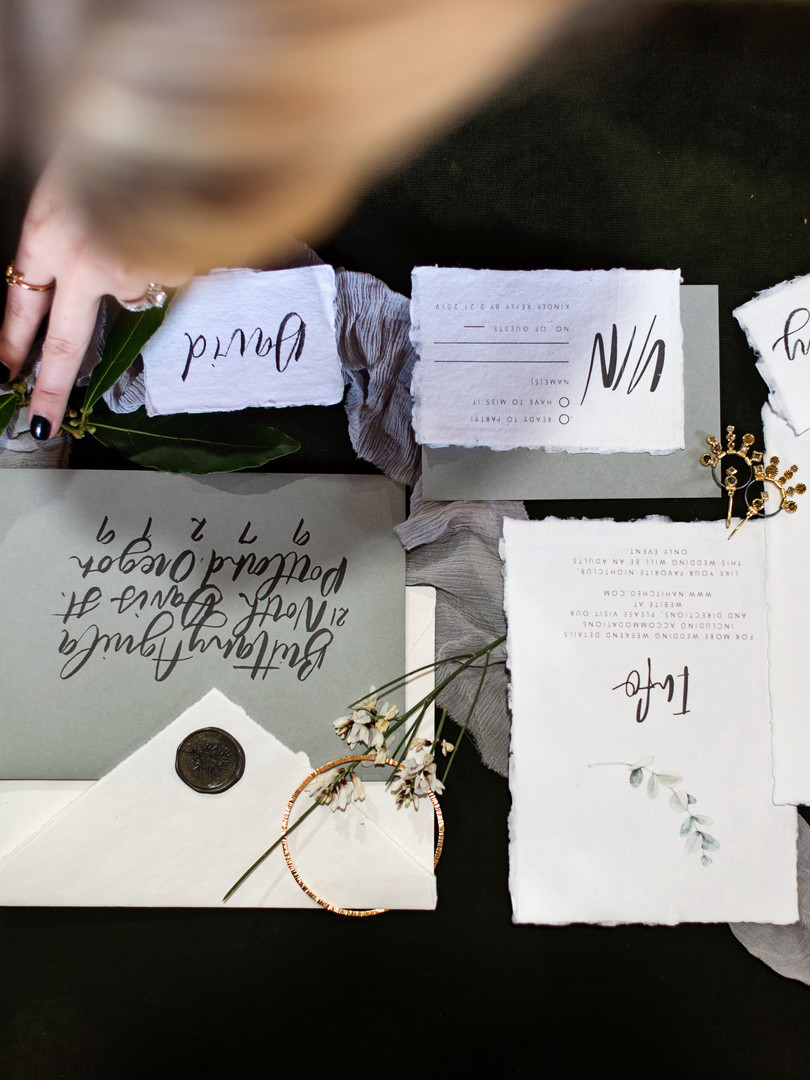 Letters and Dust | Custom Wedding invita