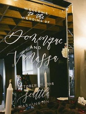 Mirror Weddign Signs | Letters & Dust | Portland Oregon