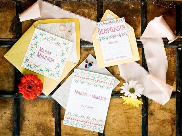 Fiesta Wedding invitation set | Mexican