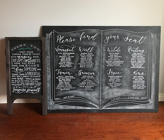 Letters & Dust | Chalkboard Art | Custom Wedding Signs | Portland Oregon