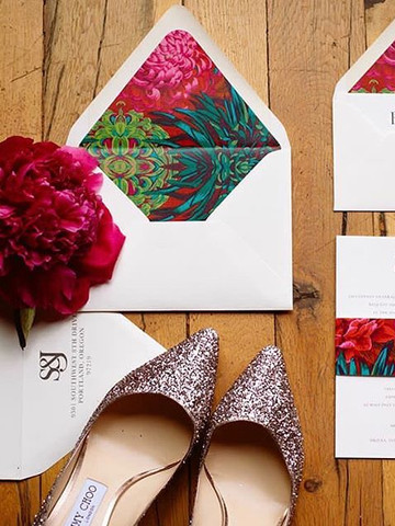 Modern minimal bold wedding invitation
