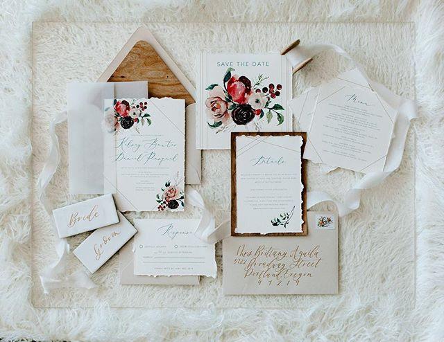 Boho chic modern Wedding invitation  _ L