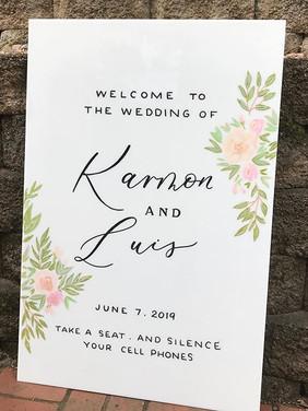 Letters & Dust | ACrylic wedding signs | portland Oregon