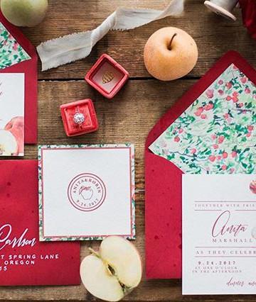 Apple Orchard Wedding Invitation set _ L