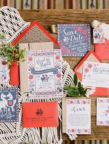 Peruvian wedding invitation | llama |  _