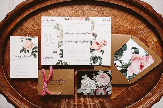 Vintage Gold Floral Invitations _ Letter
