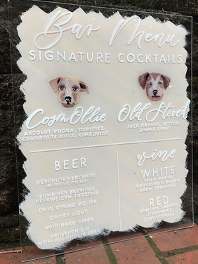 Letters & Dust | Painted Acrylic Signs | Custom Wedding Signs | portland Oregon