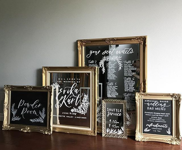 Mirror Weddign Signs | Letters & Dust | Portland Oregon