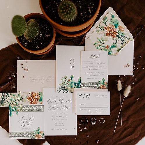 copy of Desert Boho Semi Custom Invitation Set
