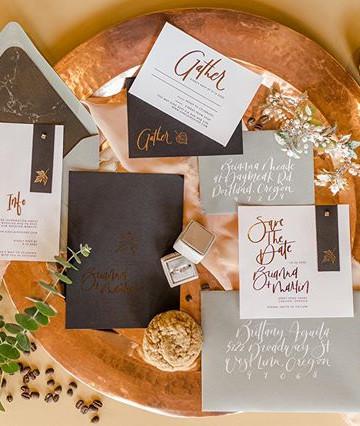 Fall Coffee Copper Wedding invitation se
