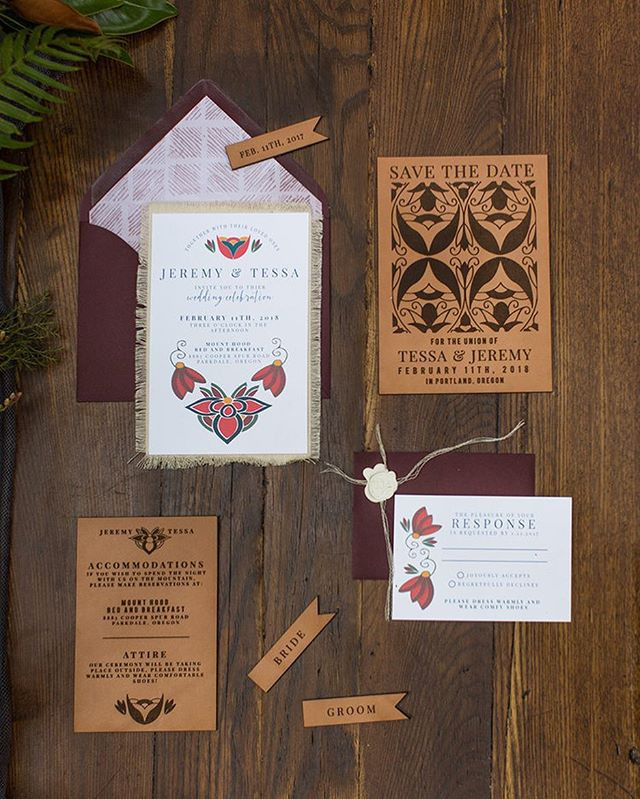 Native American Wedding Invitation set |