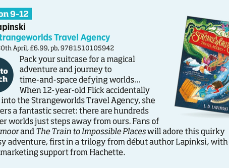 The Strangeworlds Travel Agency is 'One to Watch' in The Bookseller