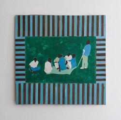 Levinsky Garden - 2014 - acrylic on wood - 37.5X37.5cm