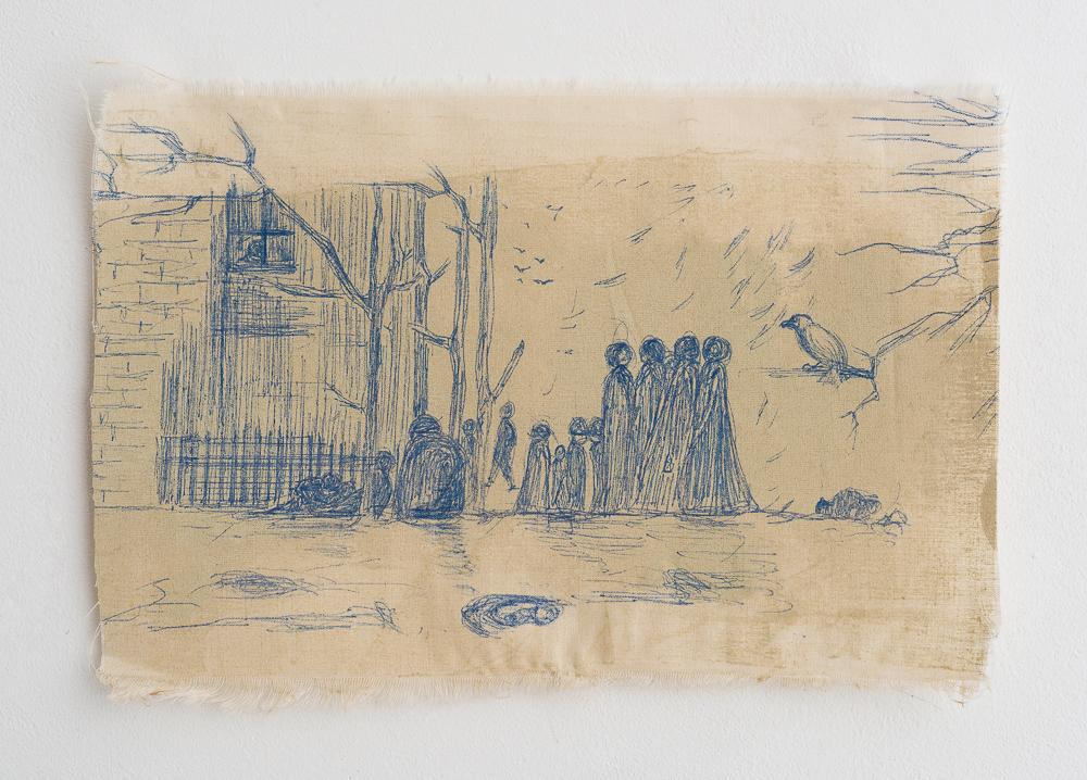 Untitled - 2012 - pen on cloth - 25X18cm