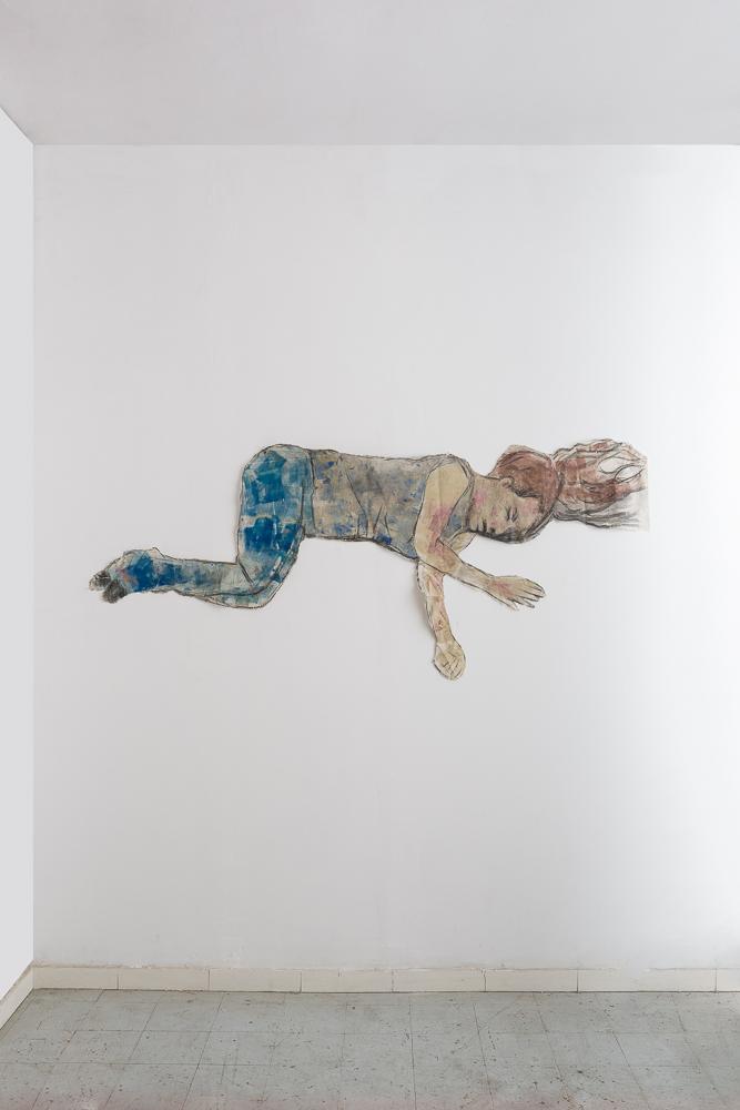 Untitled - 2011 - acrylic on cloth - 180X100cm