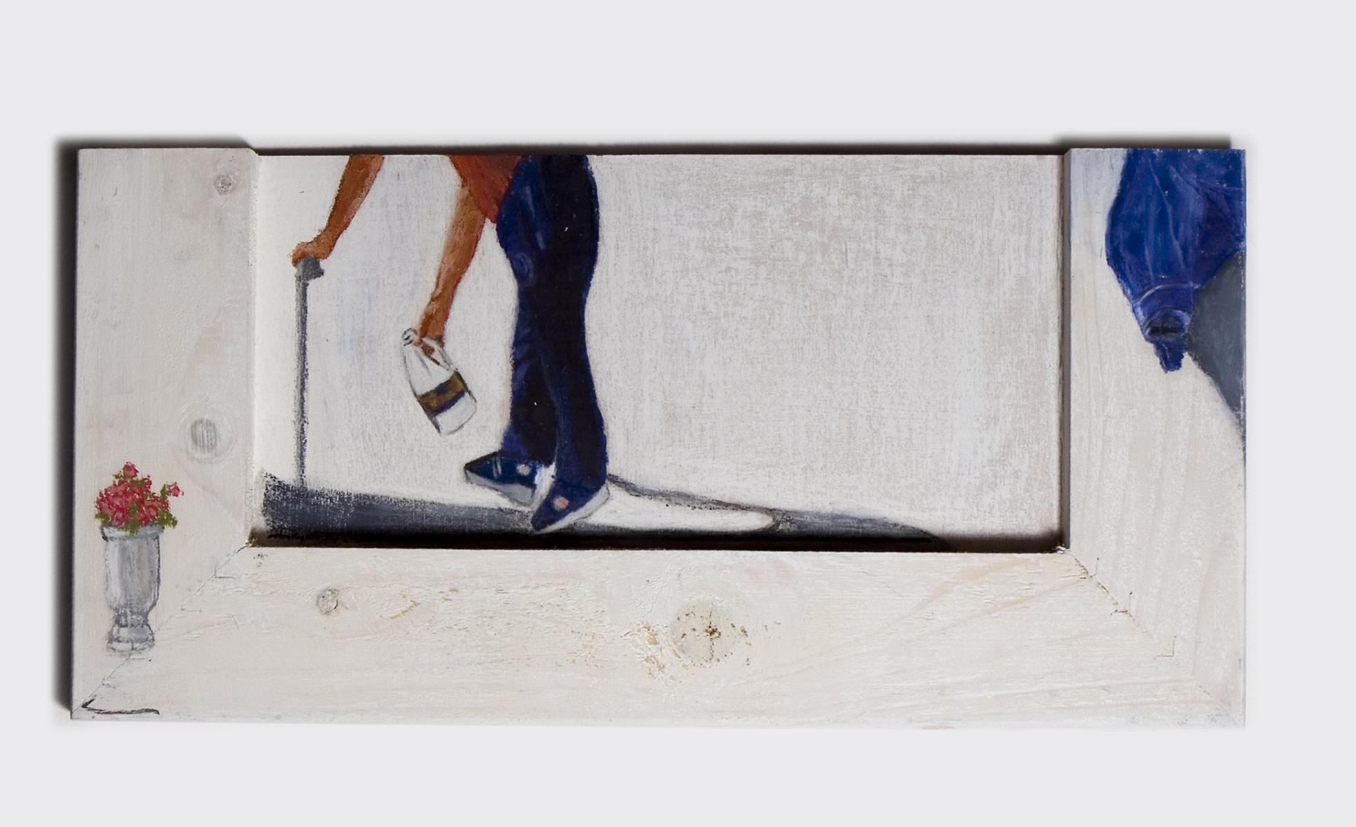 Untitled - 2009 - acrylic and pastel on wood - 37X18cm