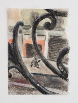 Untitled - 2013 - pastel on paper - 14.5X21cm