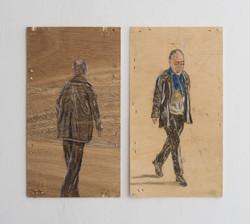 Untitled - 2010 - pastel on wood - 16X29cm